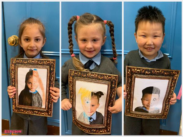 Creating Self Portraits in Room 1